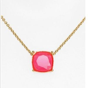 Kate Spade Hot Pink Stone Gold Necklace